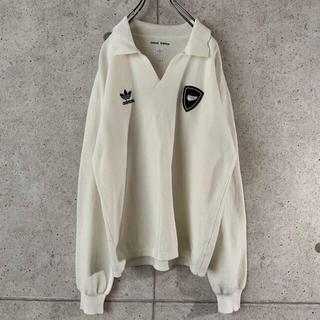 アディダス(adidas)の【オールブラックス‼︎】ワッペン 90s 刺繍ロゴ ニットセーター 古着 大人気(ニット/セーター)