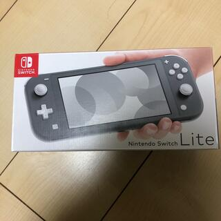 Nintendo Switch - Nintendo Switch Liteグレー 保証印あり