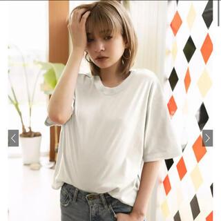 GRL - ラウンドネック5部袖Tシャツ オーバーサイズ