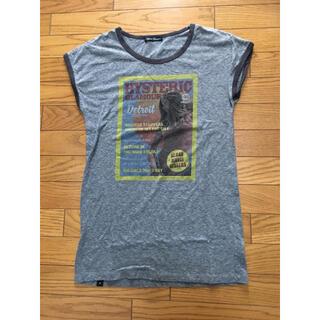 ヒステリックグラマー(HYSTERIC GLAMOUR)の中古ヒステリックグラマーTシャツ灰色ワンピース デトロイト(ミニワンピース)