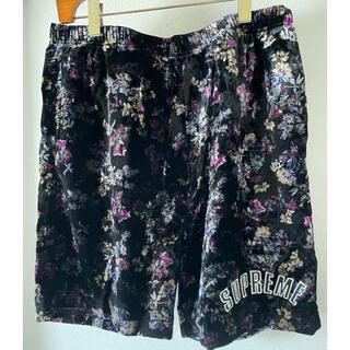 Supreme - Supreme Floral Velour Short 19ss 美品M jsb