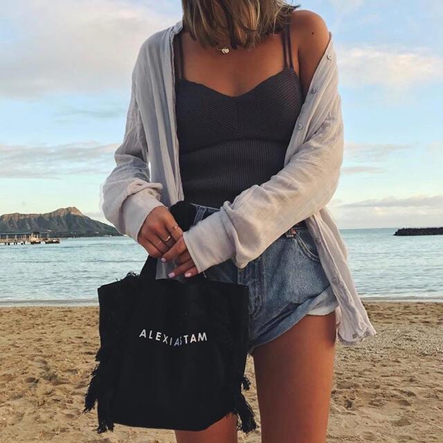 ALEXIA STAM(アリシアスタン)のALEXIA STAM 黒ミニトート レディースのバッグ(トートバッグ)の商品写真