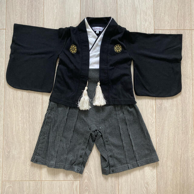 袴ロンパース 足袋靴下つき 80cm キッズ/ベビー/マタニティのベビー服(~85cm)(ロンパース)の商品写真