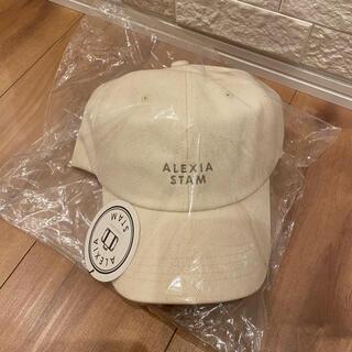 ALEXIA STAM - 新品未使用★alexiastam  アリシアスタン   キャップ★アイボリー