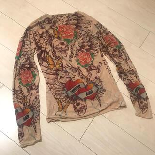 ジャンポールゴルチエ(Jean-Paul GAULTIER)のVintage パワーネット シースルー  タトゥー トップス tシャツ シャツ(カットソー(長袖/七分))
