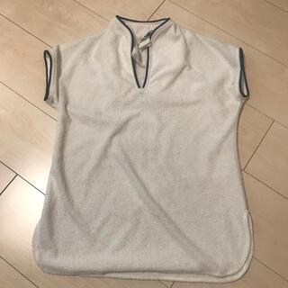ロキエ(Lochie)のVintage パイル生地 ノースリーブ シャツ マリン セーラー(Tシャツ(半袖/袖なし))