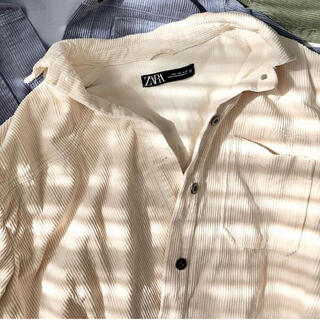 ZARA - 値下げ!!【新品未使用・タグ付き】ZARA コーデュロイシャツジャケット L