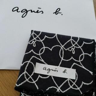 agnes b. - 新品 アニエスベー ミニ ハンカチ ハート ブラック