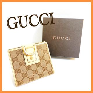 グッチ(Gucci)のグッチ Wフック ウォレット 二つ折り財布 レディース GGキャンバス アビー(折り財布)