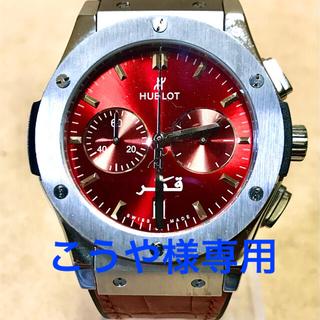 ウブロ(HUBLOT)のこうや様専用 HUBLOT ウブロ BIG BANG クォーツ 赤文字盤&ベルト(腕時計(アナログ))