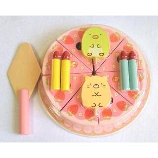 サンエックス - すみっこぐらし♡いちごフェア木製ケーキおもちや(ぺんぎん?&ねこ)