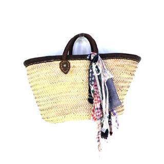 エーズラビット(Asrabbit)のAsrabbit(エーズラビット) 飾り付きカゴバッグ レディース バッグ かご(かごバッグ/ストローバッグ)