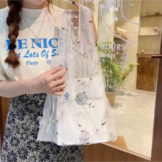 【ECO】シースルー  エコバッグ  トートバッグ  春先ファッション 可愛い