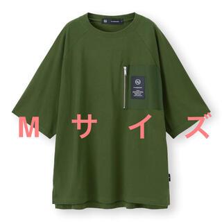 アンダーカバー(UNDERCOVER)のundercover GU ビッグジップポケットT(5分袖) Mサイズ グリーン(Tシャツ/カットソー(半袖/袖なし))