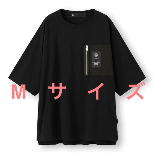 UNDERCOVER(アンダーカバー)のundercover GU ビッグジップポケットT(5分袖) Mサイズ ブラック メンズのトップス(Tシャツ/カットソー(半袖/袖なし))の商品写真