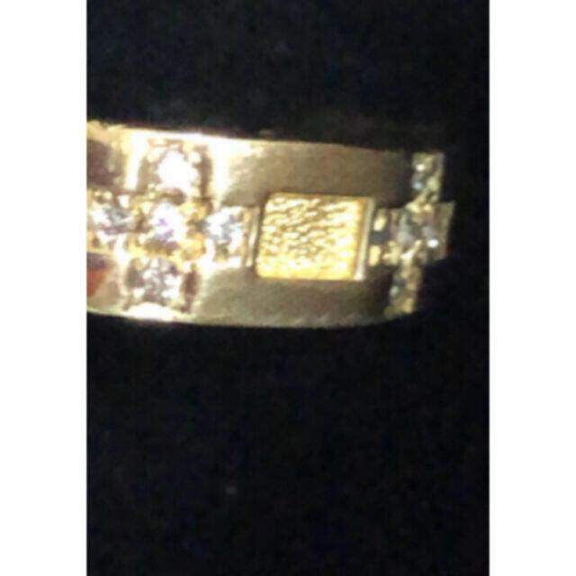 k18  クロス ダイヤモンド リング レディースのアクセサリー(リング(指輪))の商品写真
