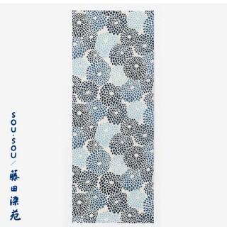 SOU・SOU - SOU・SOU×藤田染苑 藍捺染 手ぬぐい/菊づくし