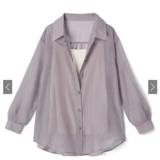 GRL - GRL シアーオーバーシャツ グレイル くすみパープル シャツ