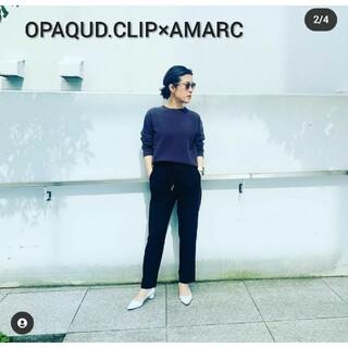 オペークドットクリップ(OPAQUE.CLIP)のOPAQUD.CLIP×AMARC・サイドラインドロストパンツ(カジュアルパンツ)