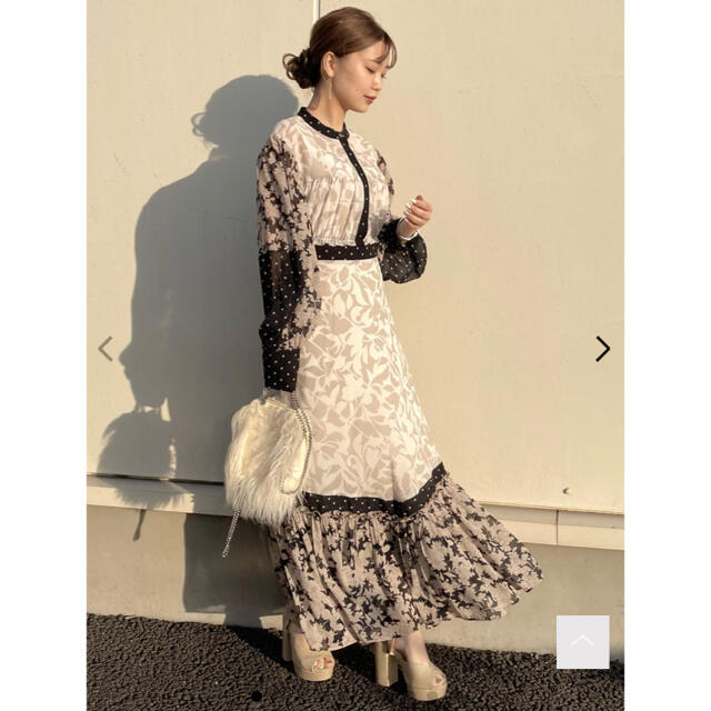 Lily Brown(リリーブラウン)のLily Brown / パッチワークワンピース レディースのワンピース(ロングワンピース/マキシワンピース)の商品写真