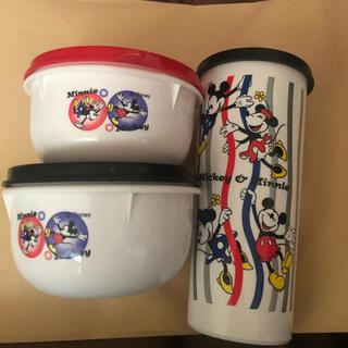 ディズニー(Disney)のTUPPERWARE ミッキー3点セット(容器)