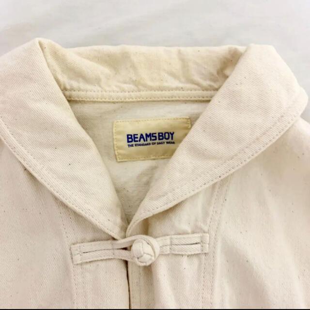 BEAMS BOY(ビームスボーイ)のビームスボーイ  チャイナ カンフージャケット ホワイトデニム レディースのジャケット/アウター(その他)の商品写真