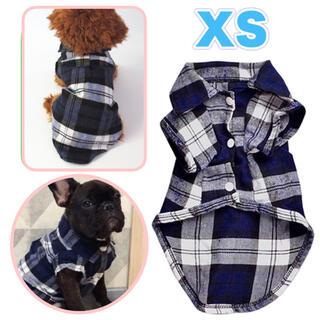 犬服 XSサイズ おしゃれ 春用シャツ チェック柄 新品 未使用 小型犬 dog