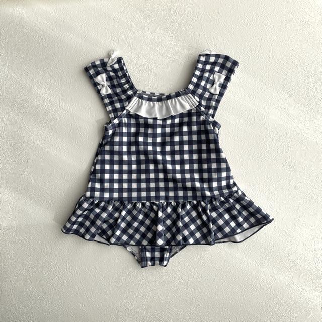 petit main(プティマイン)の新品未使用 ワンピース水着 80㎝ キッズ/ベビー/マタニティのベビー服(~85cm)(水着)の商品写真
