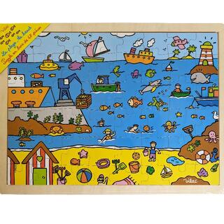 ヴィラック(vilac)のフランス木製玩具 Vilac (ヴィラック) 海のパズル(知育玩具)