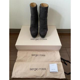 Sergio Rossi - 美品 セルジオロッシ スエードショートブーツ