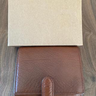 ムジルシリョウヒン(MUJI (無印良品))の無印良品 ヌメシュリンク革二つ折財布 ブラウン(財布)