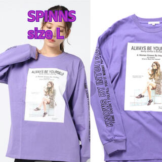 スピンズ(SPINNS)の⑧⑧③SPINNS プリントBIG ロンT sizeL(Tシャツ(長袖/七分))