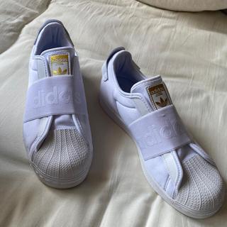 アディダス(adidas)のアディダス adidas SST SLIP ON (WHITE)(スリッポン/モカシン)
