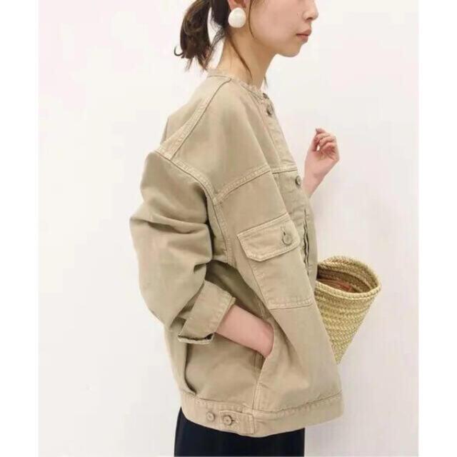 IENA(イエナ)の 新品タグ付き IENA カラー チノリメイクルーズブルゾン レディースのジャケット/アウター(ノーカラージャケット)の商品写真