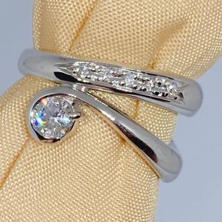 K18 WG ホワイトゴールド ダイヤモンド 0.25ct リング  ピンキー