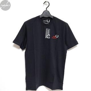 RAF SIMONS - 20SS ラフシモンズ フレッドペリー Tシャツ ネイビー S 新品 ロゴ