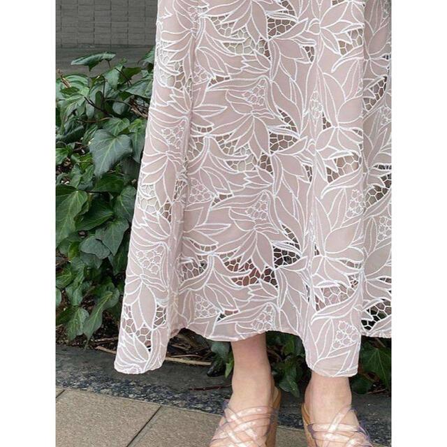 MERCURYDUO(マーキュリーデュオ)の MERCURYDUO カットワーク刺繍ナロースカート 2021 レディースのスカート(ロングスカート)の商品写真