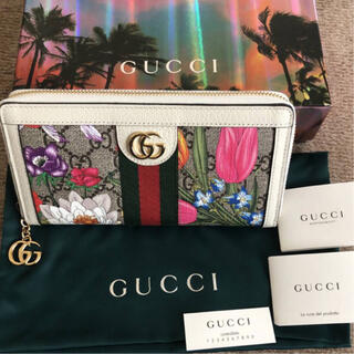 Gucci - 新品 GUCCI GGフローラ 長財布  ジップアラウンドウォレット