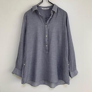 IENA - IENA   リネン混 ストライプシャツ