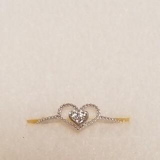サマンサティアラ(Samantha Tiara)の新品 サマンサティアラ 18金 ダイアモンド ハートリング ホワイトゴールド(リング(指輪))