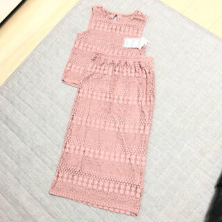 ZARA - 新品未使用 かぎ編み すかし編み セットアップ ダスティーピンク
