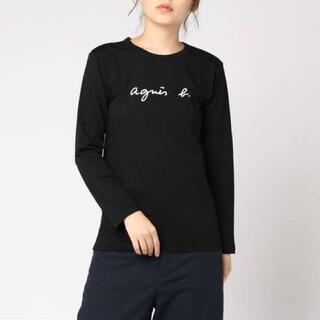 agnes b. - アニエスベー ロゴTシャツ T3 長袖 ブラック