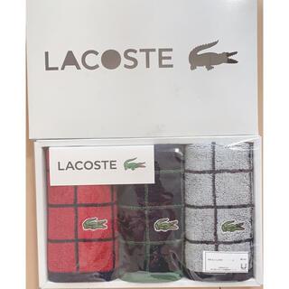 ラコステ(LACOSTE)のひーさん様専用LACOSTE タオルハンカチ3枚セット(ハンカチ/ポケットチーフ)