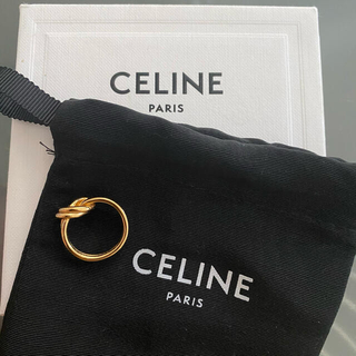 celine - CELINE ダブルノットリング