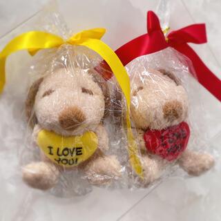 SNOOPY - ♥ハート スヌーピー ぬいぐるみ 2種類セット メッセージ入り プレゼントにも