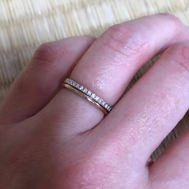 Vendome Aoyama(ヴァンドームアオヤマ)のオレフィーチェ    ハーフエタニティリング レディースのアクセサリー(リング(指輪))の商品写真