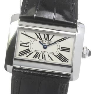 Cartier - ☆良品 カルティエ ミニ タンクディバン W6300255 レディース 【中古】