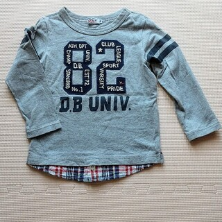 ダブルビー(DOUBLE.B)の美品 ミキハウス ダブルビー ロンT 100cm(Tシャツ/カットソー)