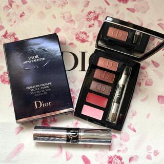 Dior - 【新品】Dior アイシャドウ&リップ ミニパレット おまけミニマスカラ付き