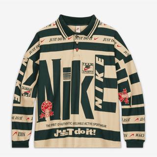 ナイキ(NIKE)のNike CPFM Longsleeve Polo Natural 【Lサイズ】(ポロシャツ)